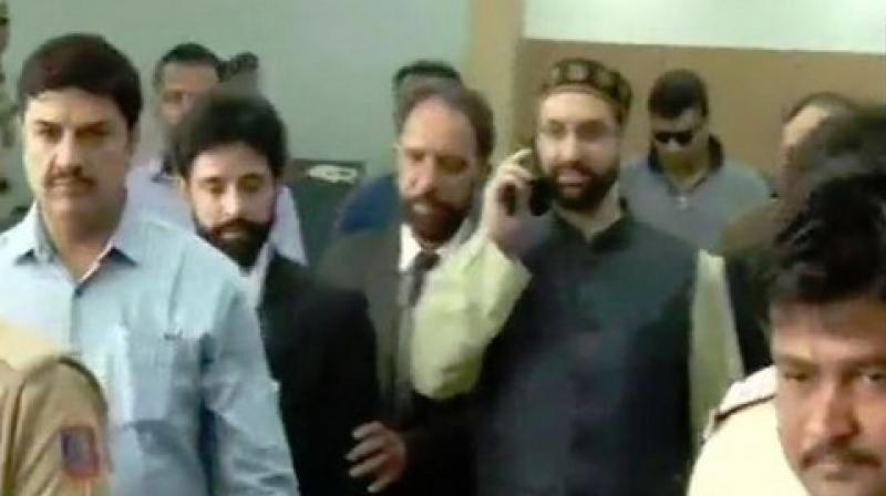 The NIA had carried out searches in February at seven locations of separatists in Kashmir, including that of Mirwaiz Umar Farooq, in connection with the case. (Photo: ANI)