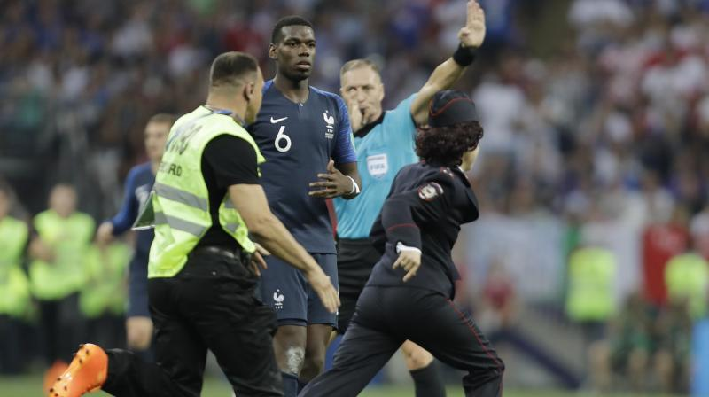 France were on their way to a 4-2 victory over Croatia in Moscow's Luzhniki Stadium when match play was briefly halted in the second half. (Photo: AP)