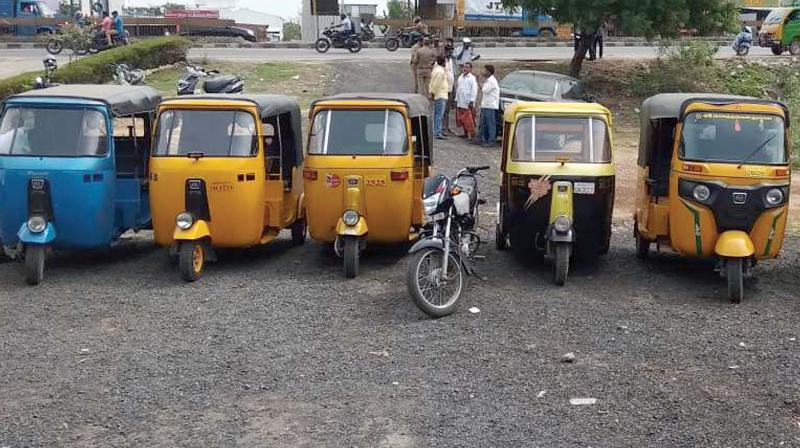 Image result for Police noticed six speeding auto-rickshaws in chennai