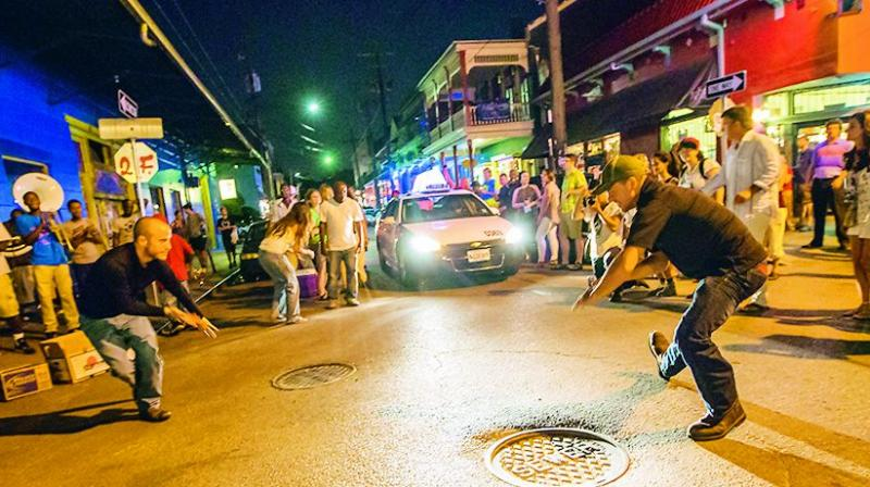 The Frenchman street walking tours where street dancers and musicians perform