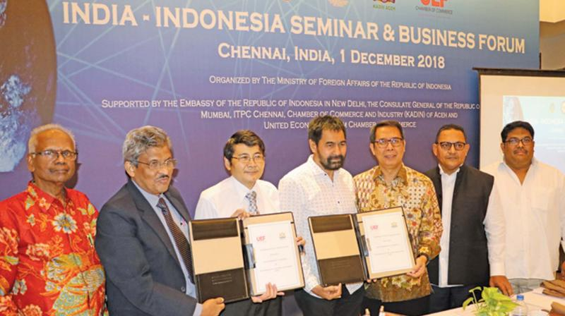 An MoU signed in the presence of Sukendar between ACCI with United Economic Forum Chamber of Commerce, Chennai.