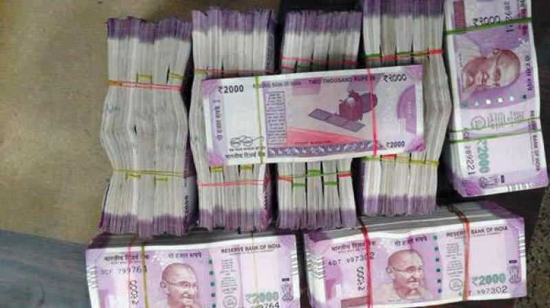 According to the police, Rs 20.75 lakh in cash, 2,200 gram of gold worth Rs 61 lakh and a car worth Rs 6 lakh were recovered from G Srinivas Rao, the cashier. (Representational Image)