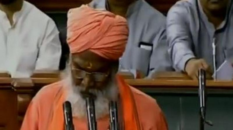 Last month Sakshi Maharaj said that no elections would be required after the 2019 elections owing to 'Modi tsunami'. (Photo: ANI)