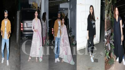 Post the success of Vicky Kaushal starrer URI: The Surgical Strike, the makers arranged a special screening for B-town celebs. Interestingly, Vicky's 'Raazi' co-star Alia Bhatt came with her mom Soni Razdan last night to watch URI. Apart from Alia, many B-town celebs attend this screening. Check out pictures here. (Photos: Viral Bhayani)