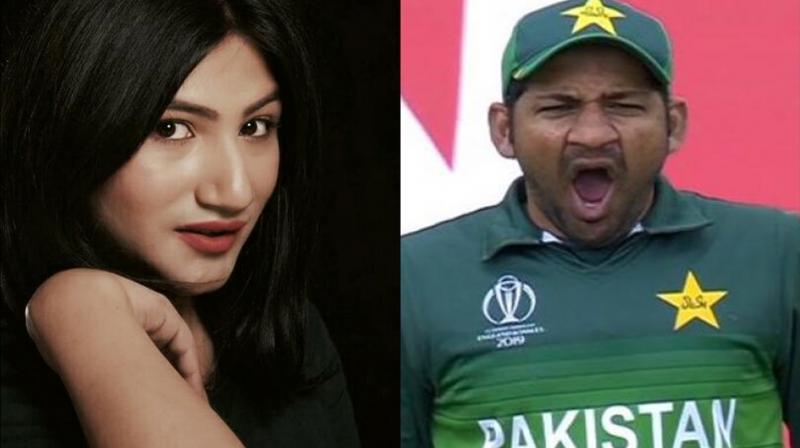 Mahika Sharma and Sarfaraz Ahmed. (Photo: Instagram)