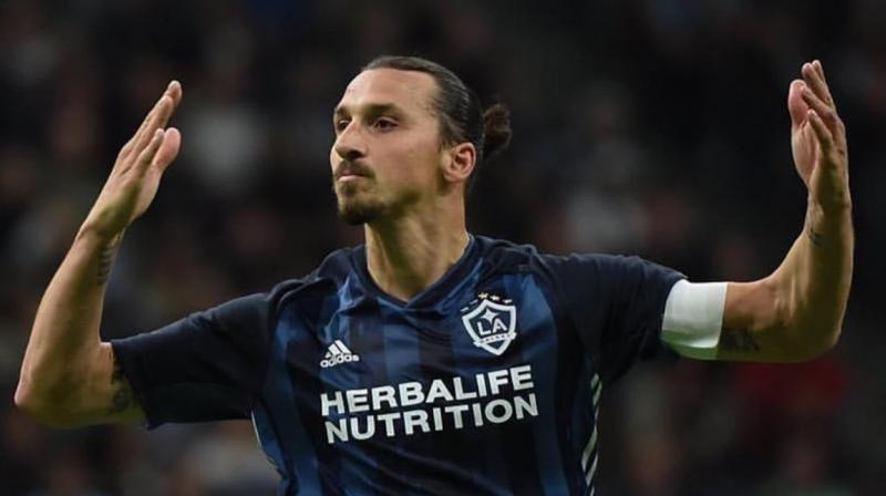 The MLS Disciplinary Committee announced in a statement it was sanctioning Ibrahimovic for violent conduct after the incident in the 86th minute of the game on May 11. (Photo: Zlatan Ibrahimovic/Twitter)