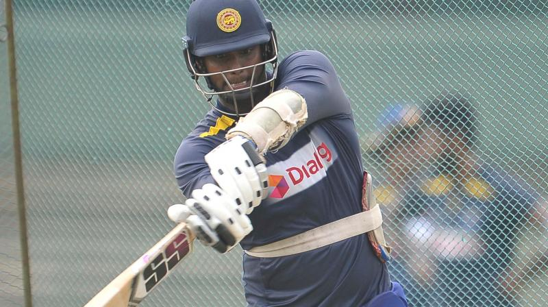 Sri Lankan cricket team had its first practice session in Scotland on Friday. (Photo: Sri Lanka Cricket/Twitter)