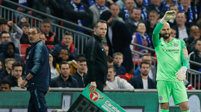 Sarri did not confirm that Kepa would be between the goalposts against Spurs. (Photo: AFP)