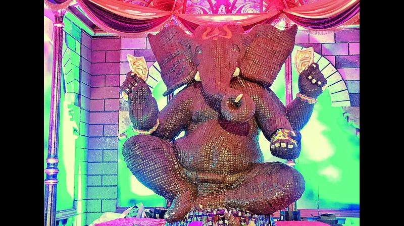 The average estimated expenditure incurred on the maintenance of the Ganesh pandals until the immersion day is Rs 2 lakh. The expenditures includes cost of permissions from police and electricity departments, purchasing of idol, erecting up the stage and decorating the pandal, daily rituals, prasadam, vehicles and band on the immersion day.