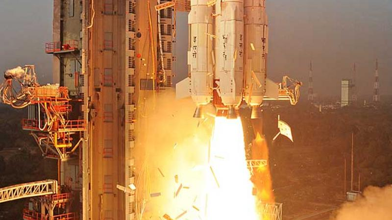 The PSLV was launched at 9.27 am on April 01, and after reaching an altitude of 749 km, around 17 minutes into flight, the 436Kg EMISAT satellite was ejected. (Representational image)