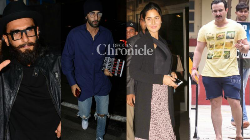 Bollywood stars made for great pictures as they stepped out in Mumbai on Sunday. (Photo: Viral Bhayani)