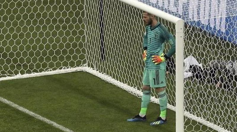 It was a forgettable night for Spain's David de Gea who had just penned a long-term deal with Premier League giants Machester United ahead of the match