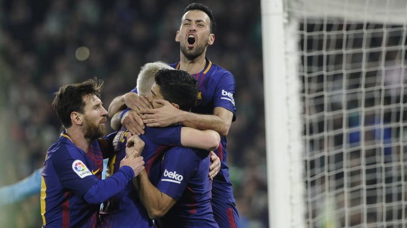 Betis went into the game having scored eight goals in their last two league matches but had few opportunities against Barca, who turned on the style in the second half as they have done so often in this dominant campaign. (Photo: AFP)