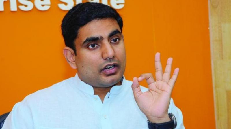IT minister Lokesh said the state government has set a target to make Andhra Pradesh a trillion dollar economy.