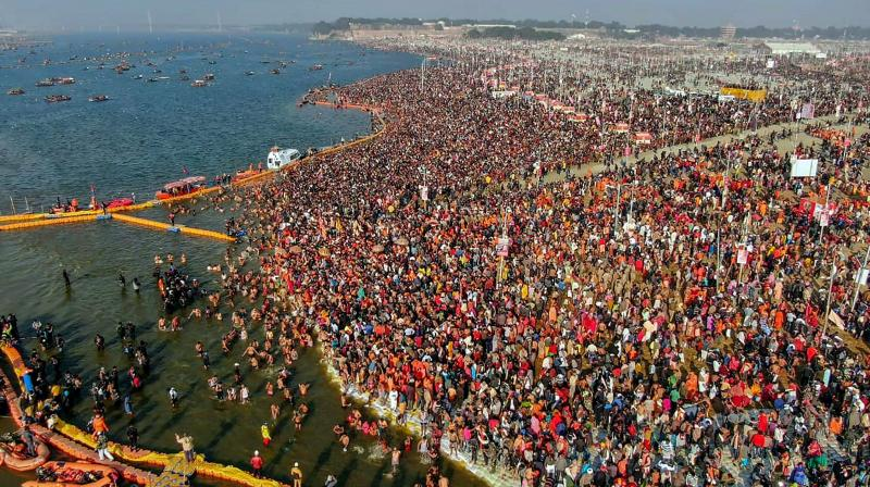Around 12 crore people are expected to visit the Kumbh between now and Maha Shivratri on March 4, when the Mela will come to a close on Maha Shivratri day. (Photo: PTI)
