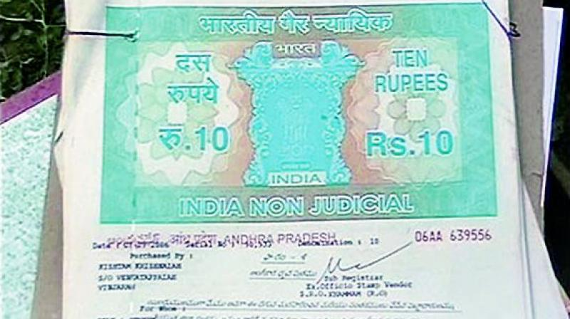 Backdated Stamp Papers Used To Show Transaction Done Earlier