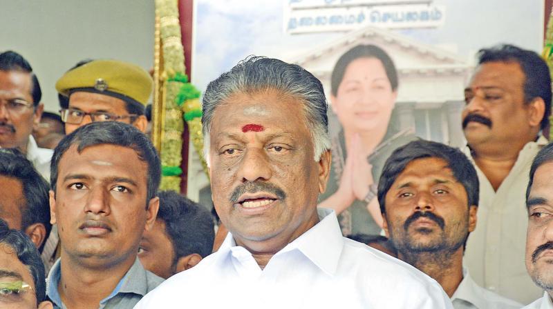 Deputy CM O Panneerselvam.