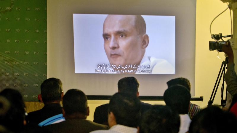 An image of former Indian naval officer Kulbhushan Jadhav. (Photo: AP)