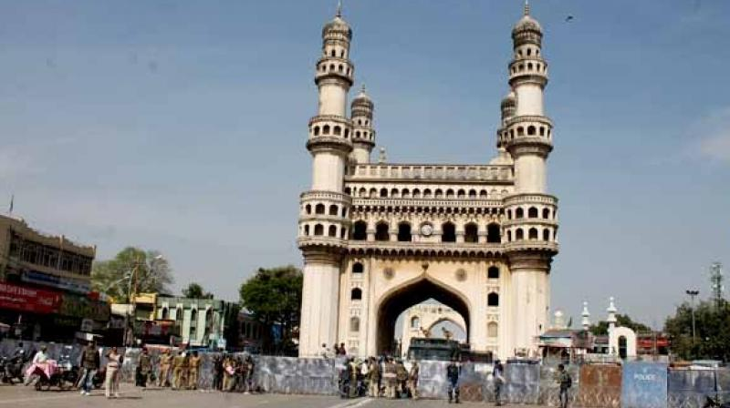 Charminar has been adjudged as special Swachh iconic place nationwide.