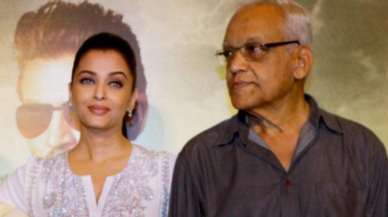Aishwarya Rai Bachchan with her father Krishnaraj Rai.
