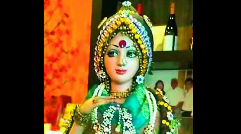 A Sridevi doll in Singapore (Photo: DC)