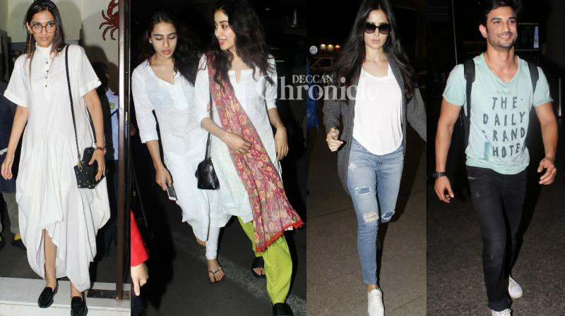 Bollywood stars were spotted outside the airport, restaurants, events and various other places as they stepped out in Mumbai on Tuesday. (Photo: Viral Bhayani)