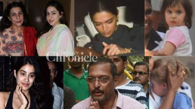 Bollywood stars stepped out in Mumbai on Monday and were clicked by the cameras at multiple locations. (Photos: Viral Bhayani)