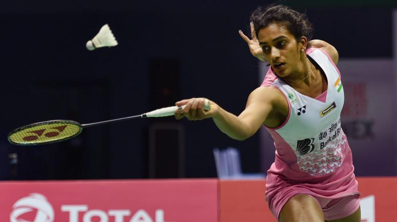 On Thursday, Sindhu produced a spirited performance as she bounced back from a game down to register a 20-22, 21-18, 21-18 win over 2016 champion Nozomi Okuhara(Photo: PTI)