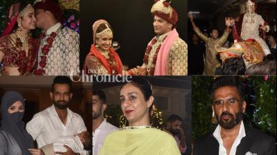 Prince, but king of my life: 'Om Shanti Om' actress Yuvika Chaudhary married Prince Narula in Mumbai on Friday. (Photos: Viral Bhayani)