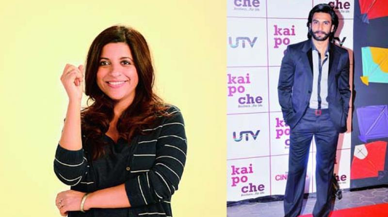 Zoya Akhtar and Ranveer Singh