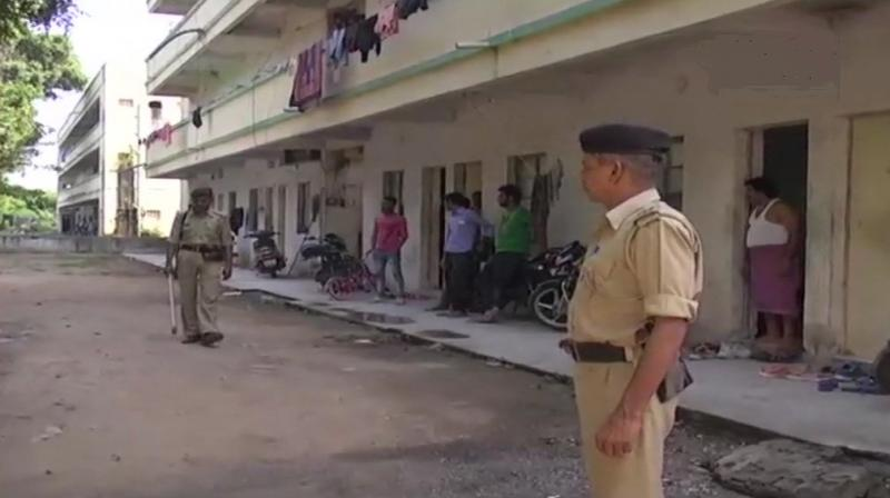 Gujarat government has urged migrant workers not to get frightened and said that appropriate actions will be taken for their security. (Photo: Twitter | ANI)