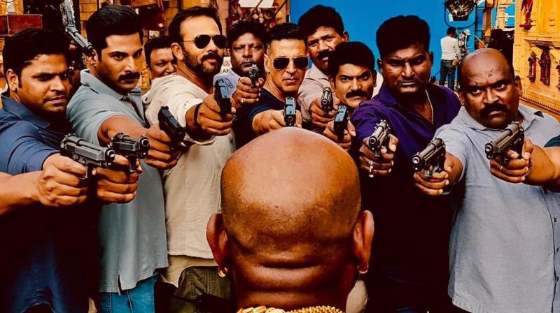Akshay Kumar with his 'Sooryavanshi' gang. (Photo: Instagram)