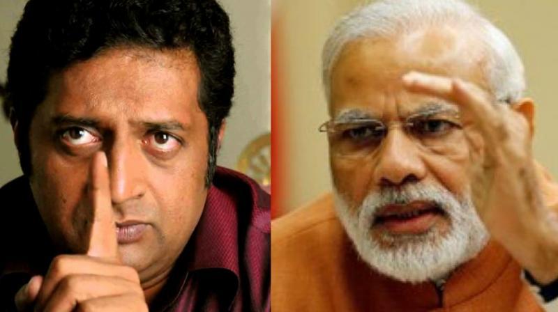 Prime Minister Narendra Modi and Prakash Raj.