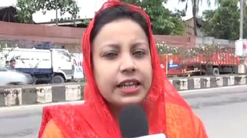 Arfan said that she got the suspension letter on messaging service WhatsApp. (Photo: ANI | Twitter)