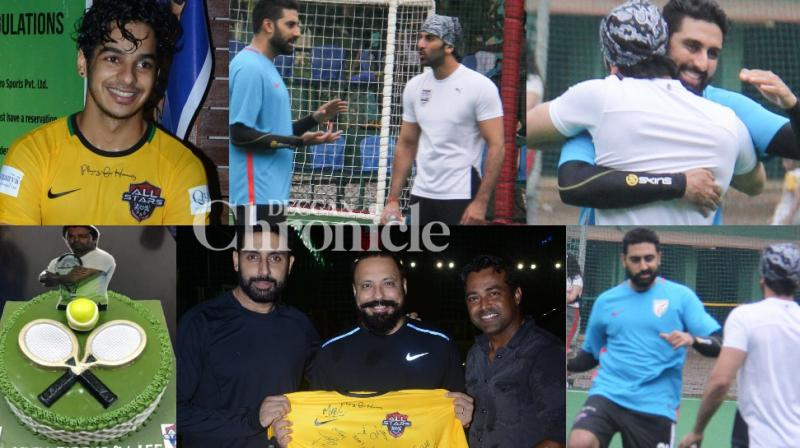 Celebrities were in the mood for football on Sunday, which also coincided with Leander Paes' birthday. (Photos: Viral Bhayani)