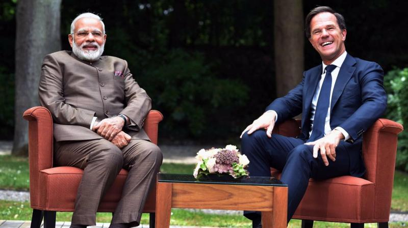 Prime Minister Narendra Modi and Netherlands Prime Minister Mark Rutte (Photo: MEAIndia/Twitter)
