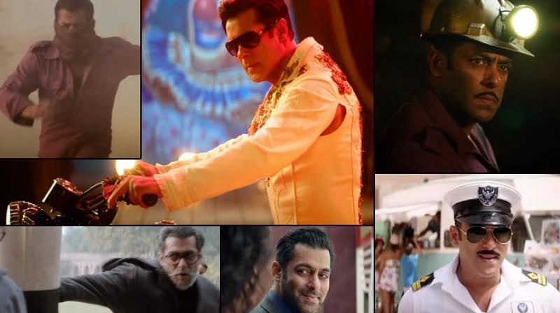 Still of Salman Khan from Bharat teaser.
