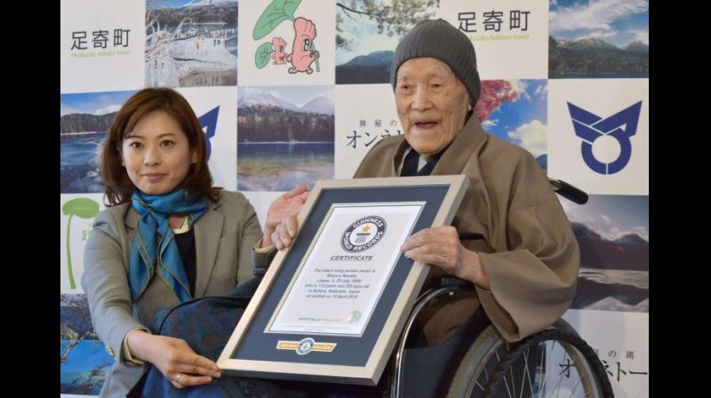 Masazo Nonaka was awarded the title of oldest man in April, 2018. (Photo: AFP)