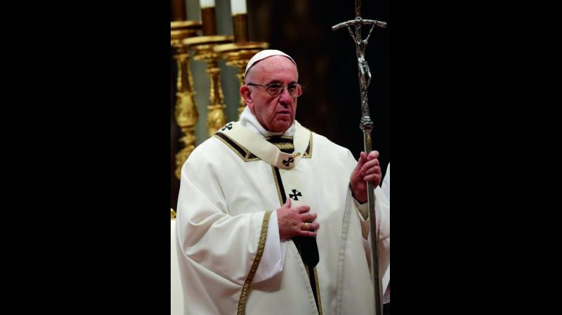 Pope Francis at St. Peter's Basilica at the Vatican. (Photo: AP)