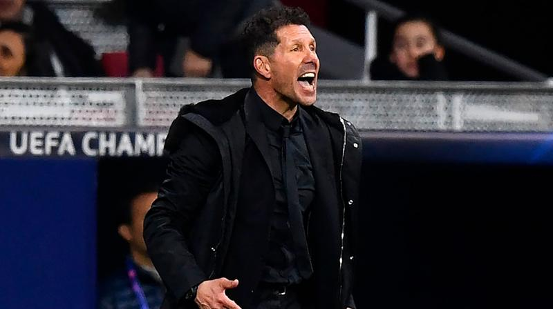 Simeone apologised for his behaviour the following day and said it was to recognise the courage his team showed in the victory. (Photo: AFP)