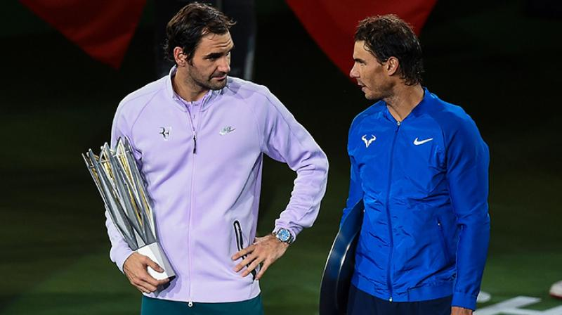 Roger Federer has dismissed Rafael Nadal's claim that it would be fairer if the ATP Tour Finals were played on clay courts. (Photo: AP)