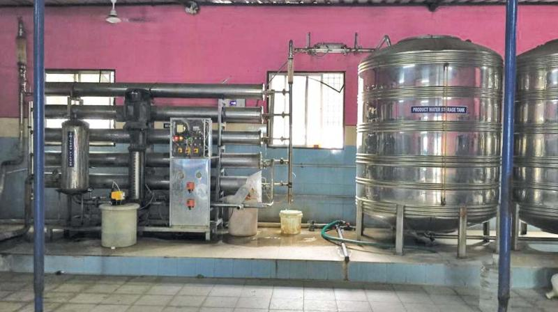 Child labourers were rescued from this Water Treatment Plant in Koyambedu. (Photo: DC)