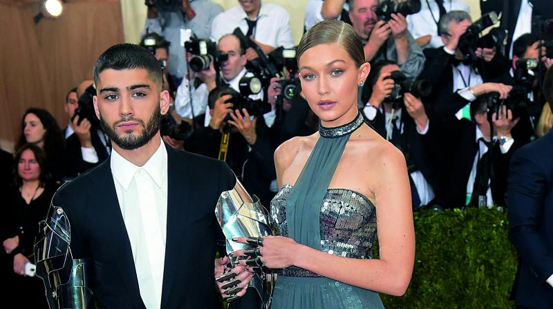 Zayn Malik with Gigi Hadid.