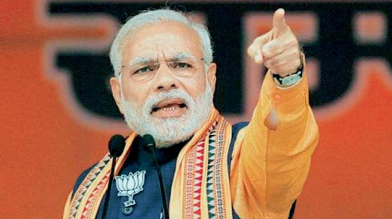 Supporters of PM Modi hail him for achieving more in 55 months than what the Congress couldn't do in 55 years. (Photo: PTI/File)