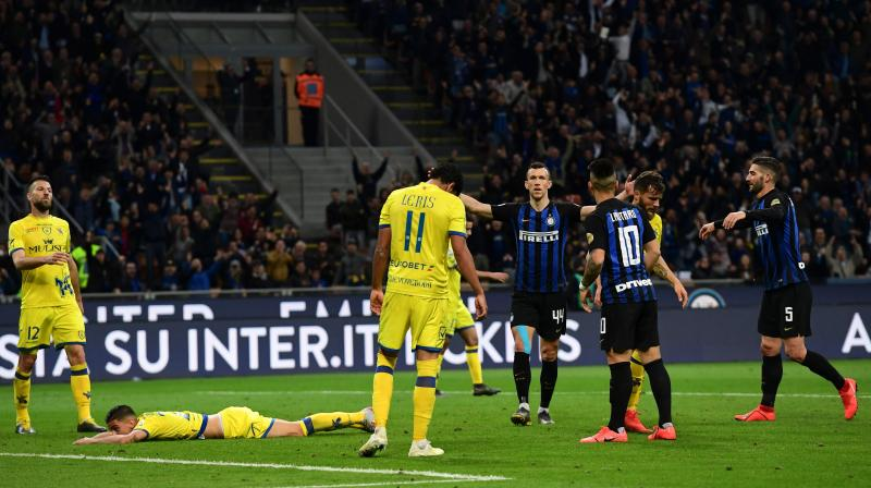 Inter move back one point ahead of Atalanta as both teams edge closer to joining champions Juventus and second-placed Napoli in elite European football with two games left this season.  AC Milan and Roma are three points adrift of fourth place, with further back Torino in seventh, five points outside the Champions League berths. (Photo: AFP)