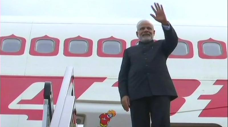 It is for the first time the Indian prime minister attended the SCO summit after India along with Pakistan became full-fledged members of the grouping, jointly dominated by China and Russia, which has been increasingly seen as a counter to NATO. (Photo: ANI/Twitter)