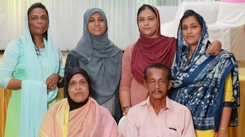Dr Shahina with her family