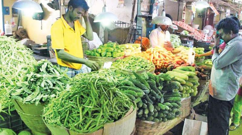 Even vegetables like chayote (chow chow) priced within Rs 15 a kg are costly and has increased to Rs 30 as the market did not receive its share from Karnataka.