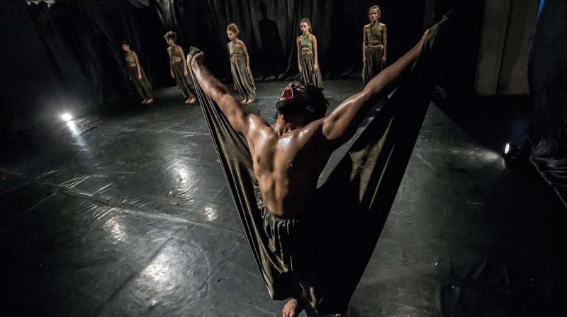 A still from the performance