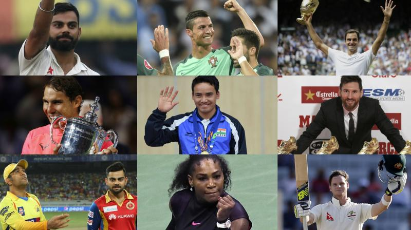 While Virat Kohli will have a chance to raise his status with wins in South Africa and England, Lionel Messi and Cristiano Ronaldo will be out to win their maiden FIFA World Cup title in Russia. Serena Williams, Roger Federer and Rafael Nadal, meanwhile, will look to shine bright and the keenly-followed Indian Premier League will kick off in April 2018. (Photo: AP / PTI / AFP / BCCI)